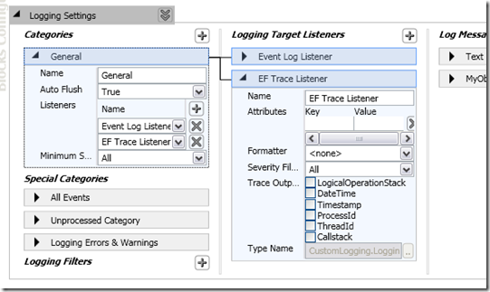 Implement an Entity Framework Trace Listener For Logging Application Block (5/5)