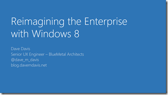 Enterprise Windows 8